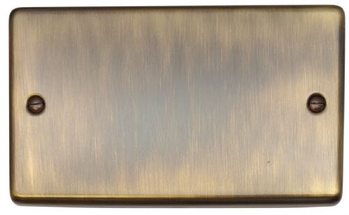 G&H CAB32 Standard Plate Antique Bronze 2 Gang Double Blank Plate